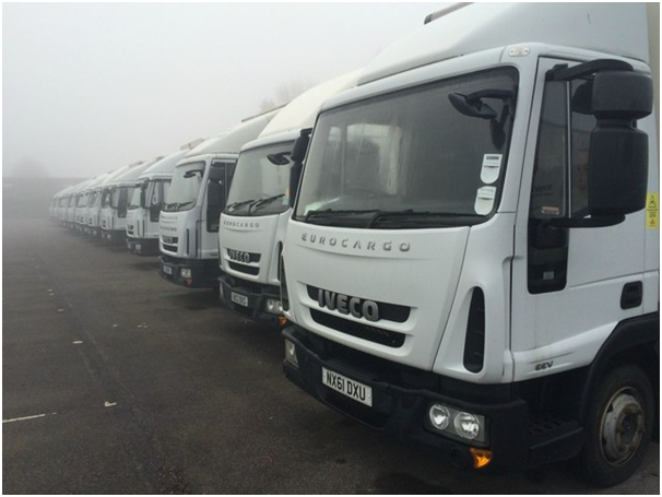 Parking availability systems are shown to be useful for truckers